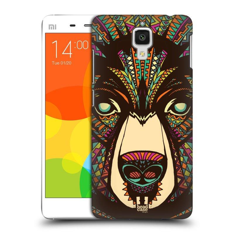 Plastové pouzdro na mobil Doogee Hitman DG850 HEAD CASE AZTEC MEDVĚD (Kryt či obal na mobilní telefon Doogee Hitman DG850)