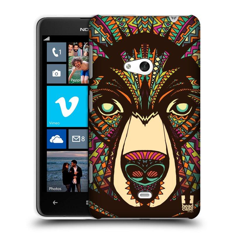Plastové pouzdro na mobil Nokia Lumia 625 HEAD CASE AZTEC MEDVĚD (Kryt či obal na mobilní telefon Nokia Lumia 625)