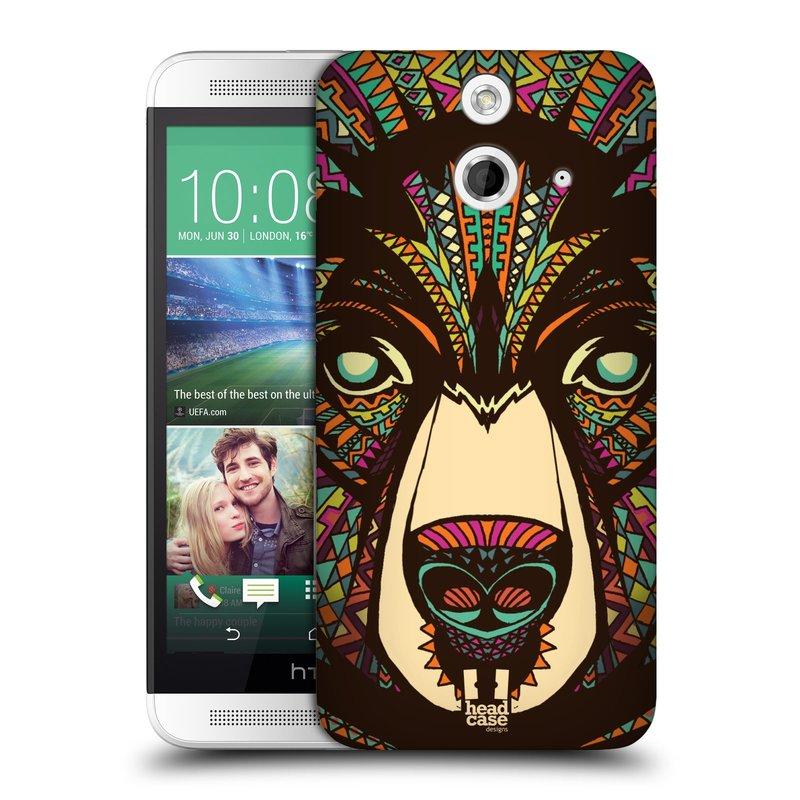 Plastové pouzdro na mobil HTC ONE E8 HEAD CASE AZTEC MEDVĚD (Kryt či obal na mobilní telefon HTC ONE E8)