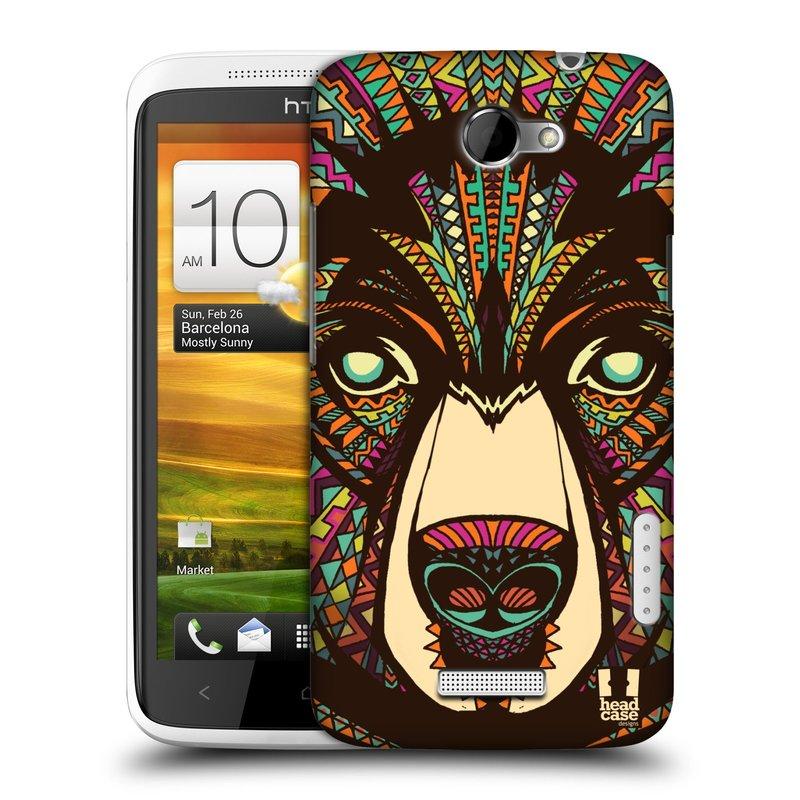 Plastové pouzdro na mobil HTC ONE X HEAD CASE AZTEC MEDVĚD (Kryt či obal na mobilní telefon HTC ONE X)