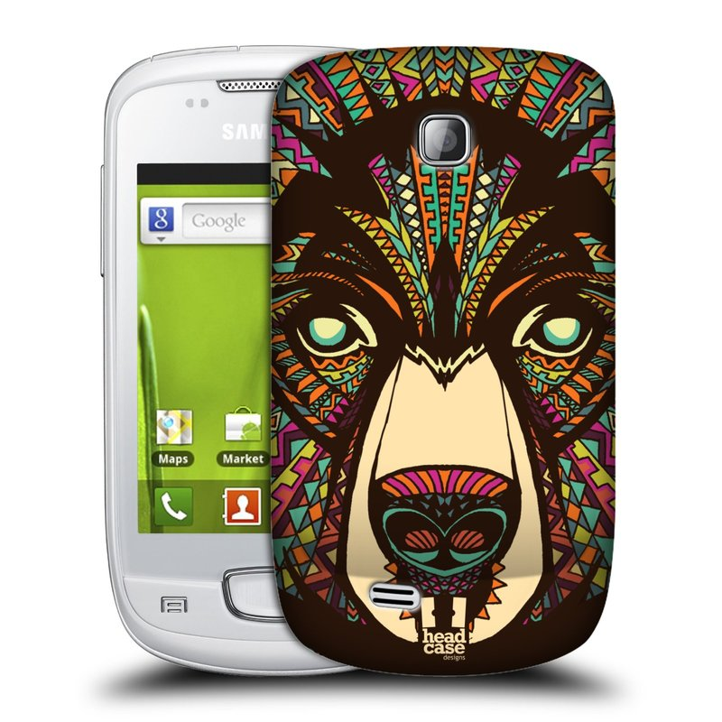 Plastové pouzdro na mobil Samsung Galaxy Mini HEAD CASE AZTEC MEDVĚD (Kryt či obal na mobilní telefon Samsung Galaxy Mini GT-S5570 / GT-S5570i)