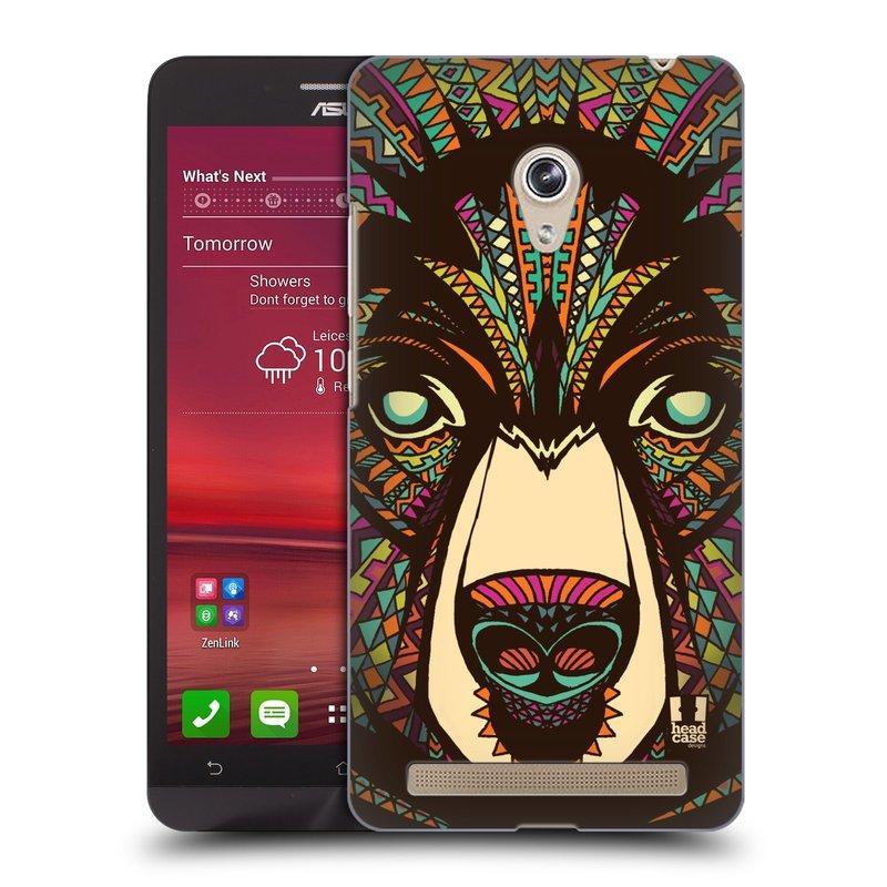 Plastové pouzdro na mobil Asus Zenfone 6 HEAD CASE AZTEC MEDVĚD (Kryt či obal na mobilní telefon Asus Zenfone 6 A600CG / A601CG)