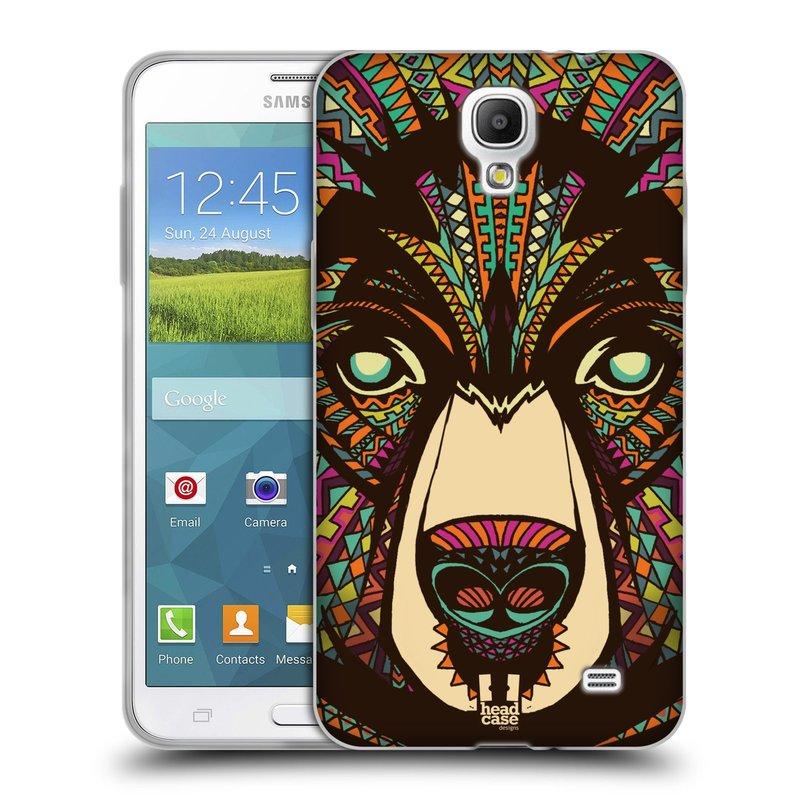 Silikonové pouzdro na mobil Samsung Galaxy Grand Mega 2 HEAD CASE AZTEC MEDVĚD (Silikonový kryt či obal na mobilní telefon Samsung Galaxy Grand Mega 2 SM-G750)
