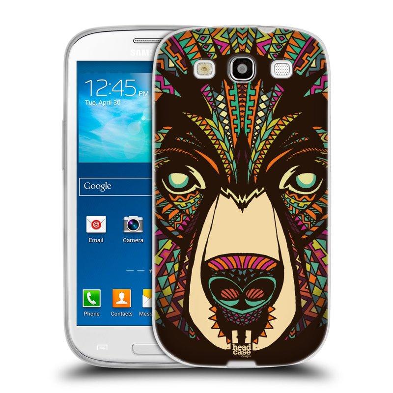 Silikonové pouzdro na mobil Samsung Galaxy S3 Neo HEAD CASE AZTEC MEDVĚD (Silikonový kryt či obal na mobilní telefon Samsung Galaxy S3 Neo GT-i9301i)