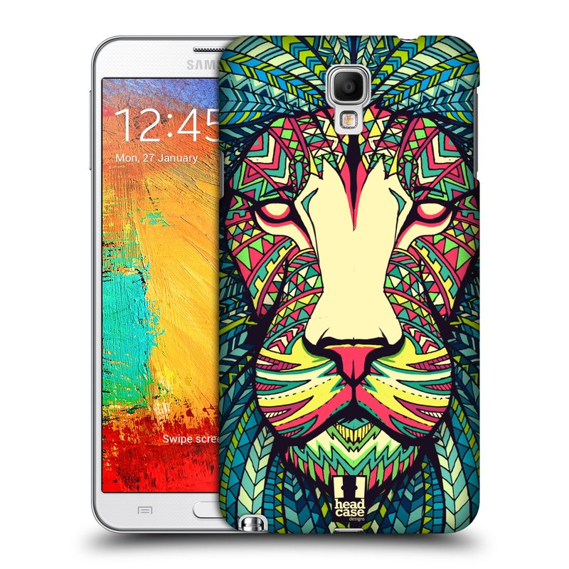 Plastové pouzdro na mobil Samsung Galaxy Note 3 Neo HEAD CASE AZTEC LEV (Kryt či obal na mobilní telefon Samsung Galaxy Note 3 Neo SM-N7505)