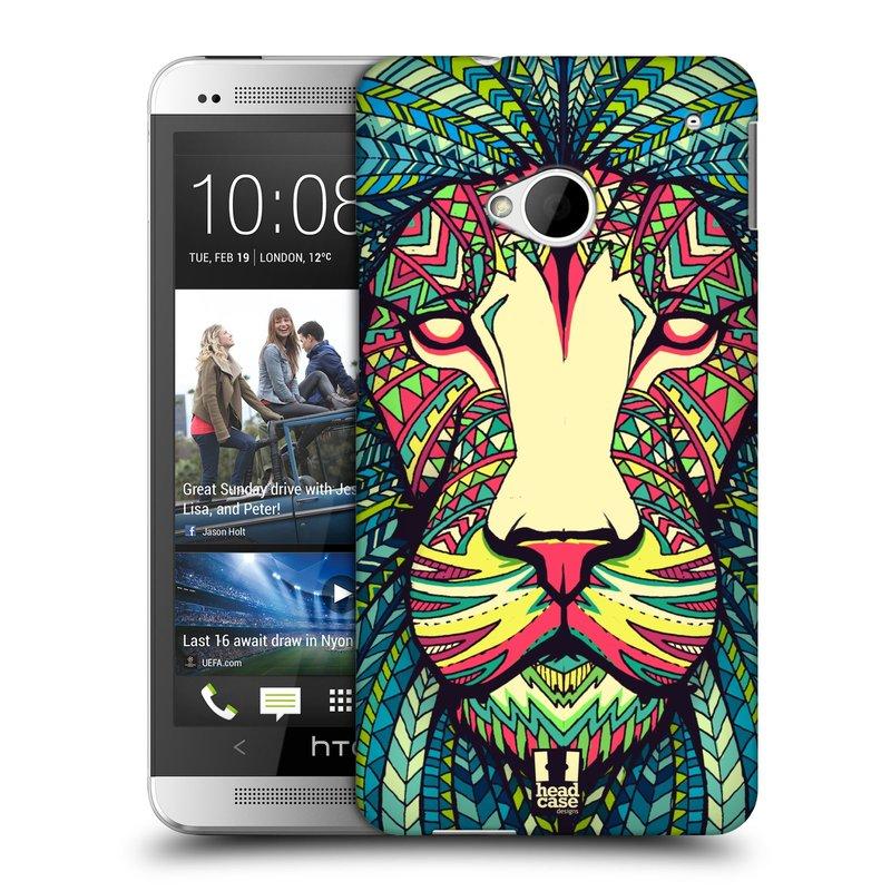 Plastové pouzdro na mobil HTC ONE M7 HEAD CASE AZTEC LEV (Kryt či obal na mobilní telefon HTC ONE M7)