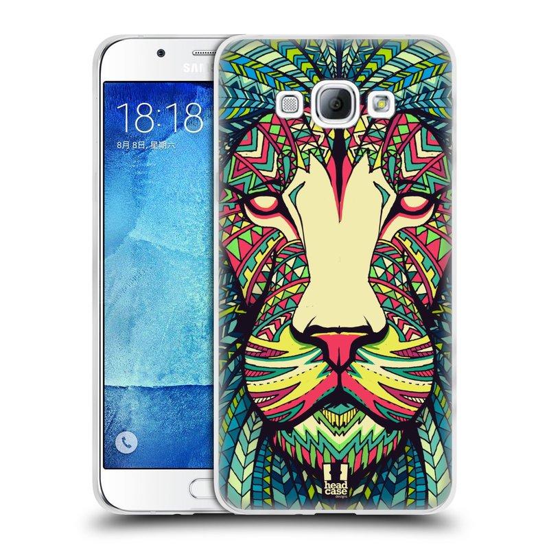 Silikonové pouzdro na mobil Samsung Galaxy A8 HEAD CASE AZTEC LEV (Silikonový kryt či obal na mobilní telefon Samsung Galaxy A8 SM-A800)