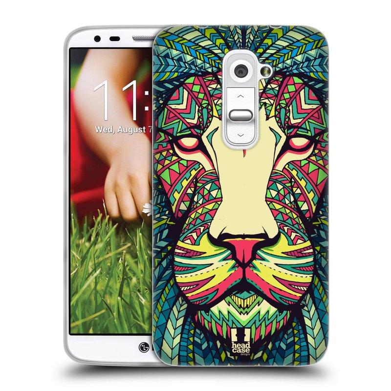 Silikonové pouzdro na mobil LG G2 HEAD CASE AZTEC LEV (Silikonový kryt či obal na mobilní telefon LG G2 D802)