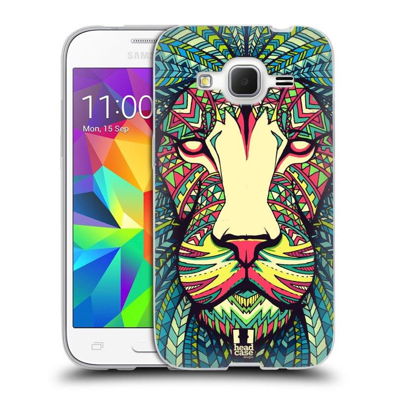 Silikonové pouzdro na mobil Samsung Galaxy Core Prime LTE HEAD CASE AZTEC LEV (Silikonový kryt či obal na mobilní telefon Samsung Galaxy Core Prime LTE SM-G360)