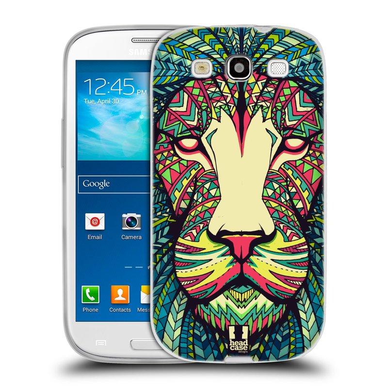 Silikonové pouzdro na mobil Samsung Galaxy S3 Neo HEAD CASE AZTEC LEV (Silikonový kryt či obal na mobilní telefon Samsung Galaxy S3 Neo GT-i9301i)