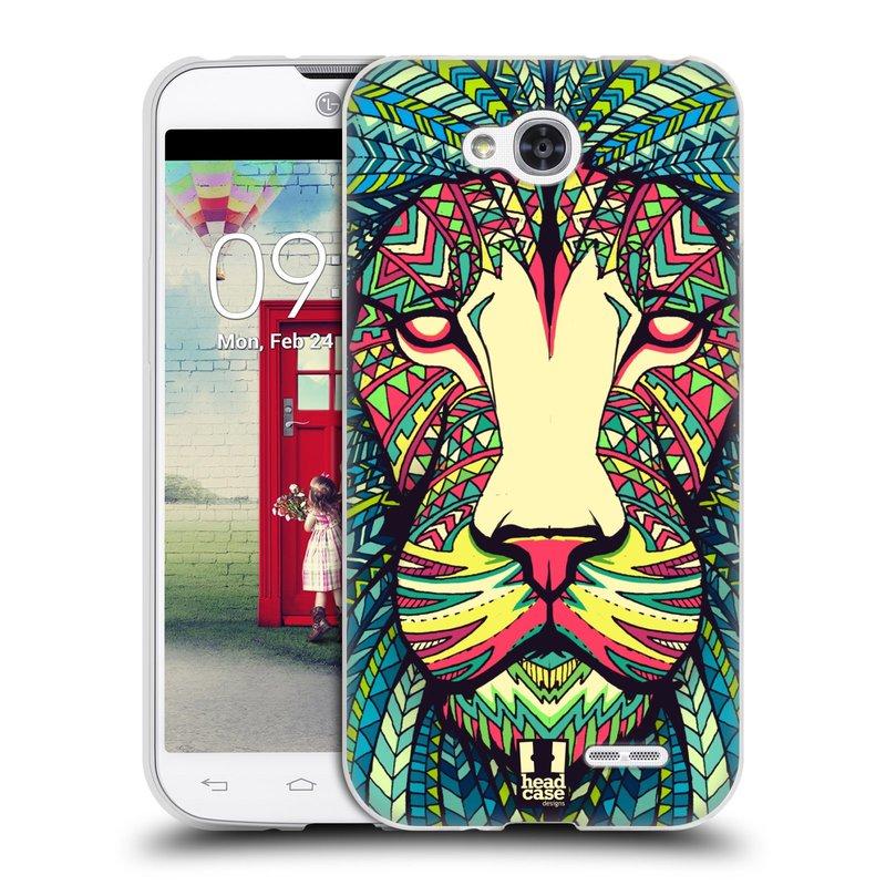 Silikonové pouzdro na mobil LG L90 HEAD CASE AZTEC LEV (Silikonový kryt či obal na mobilní telefon LG L90 D405n)