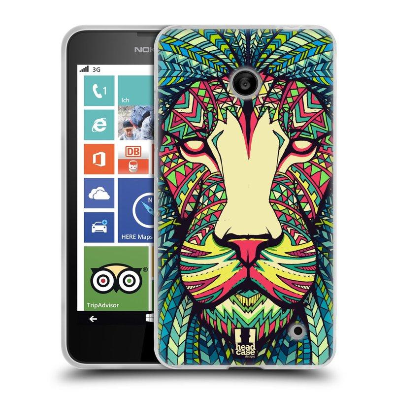 Silikonové pouzdro na mobil Nokia Lumia 630 HEAD CASE AZTEC LEV (Silikonový kryt či obal na mobilní telefon Nokia Lumia 630 a Nokia Lumia 630 Dual SIM)