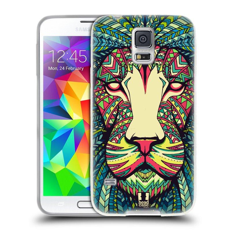 Silikonové pouzdro na mobil Samsung Galaxy S5 HEAD CASE AZTEC LEV (Silikonový kryt či obal na mobilní telefon Samsung Galaxy S5 SM-G900F)