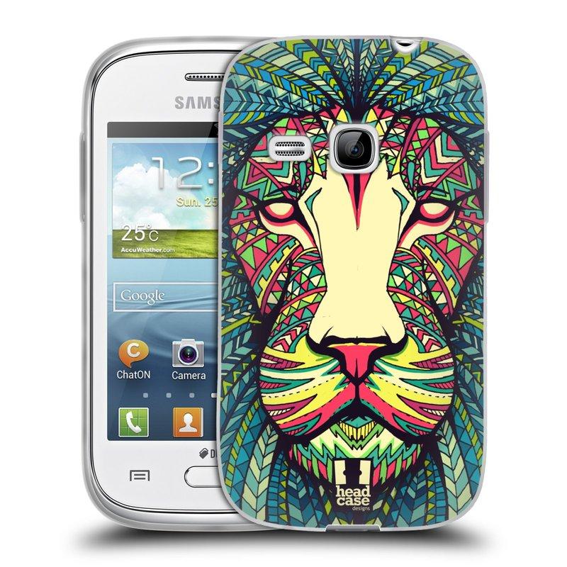 Silikonové pouzdro na mobil Samsung Galaxy Young HEAD CASE AZTEC LEV (Silikonový kryt či obal na mobilní telefon Samsung Galaxy Young GT-S6310)