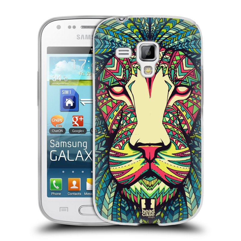 Silikonové pouzdro na mobil Samsung Galaxy S Duos 2 HEAD CASE AZTEC LEV (Silikonový kryt či obal na mobilní telefon Samsung Galaxy S Duos 2 GT-S7582)