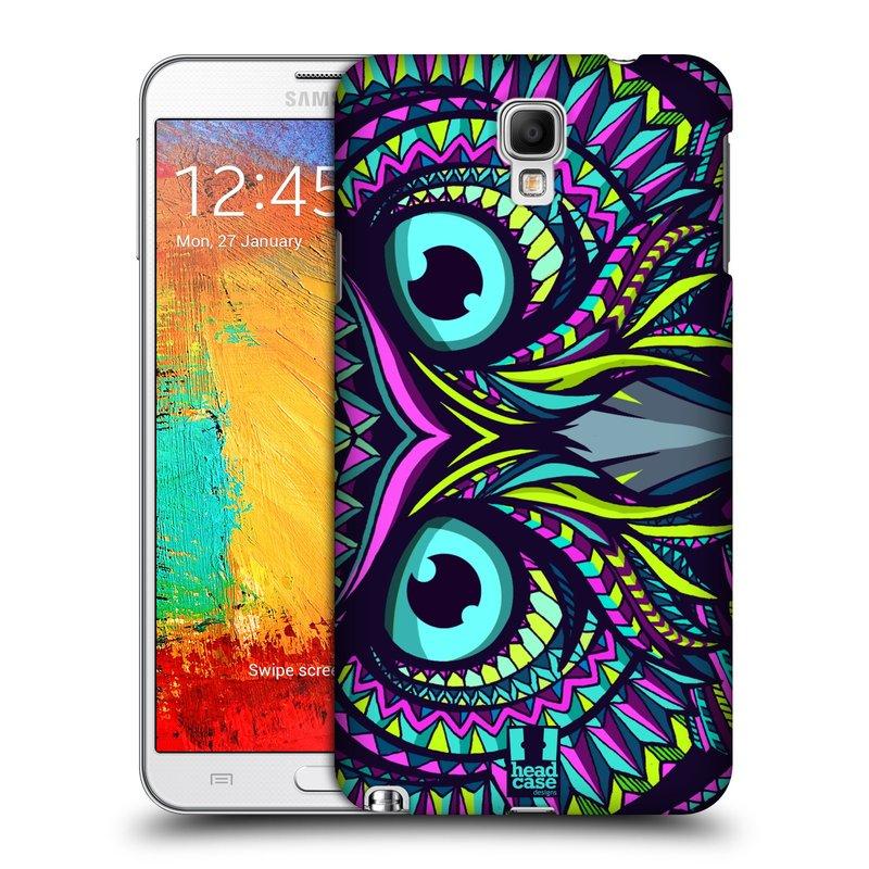 Plastové pouzdro na mobil Samsung Galaxy Note 3 Neo HEAD CASE AZTEC SOVA (Kryt či obal na mobilní telefon Samsung Galaxy Note 3 Neo SM-N7505)