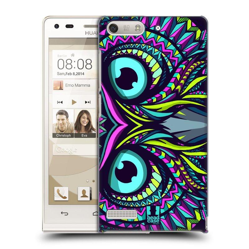 Plastové pouzdro na mobil Huawei Ascend G6 HEAD CASE AZTEC SOVA (Kryt či obal na mobilní telefon Huawei Ascend G6 bez LTE)