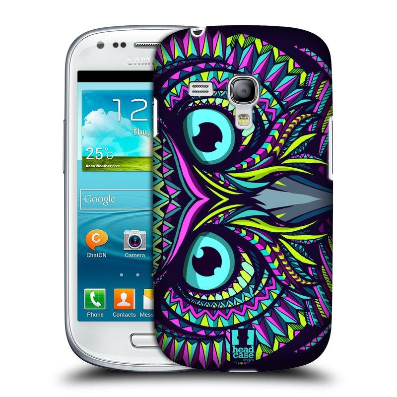 Plastové pouzdro na mobil Samsung Galaxy S3 Mini VE HEAD CASE AZTEC SOVA (Kryt či obal na mobilní telefon Samsung Galaxy S3 Mini VE GT-i8200)
