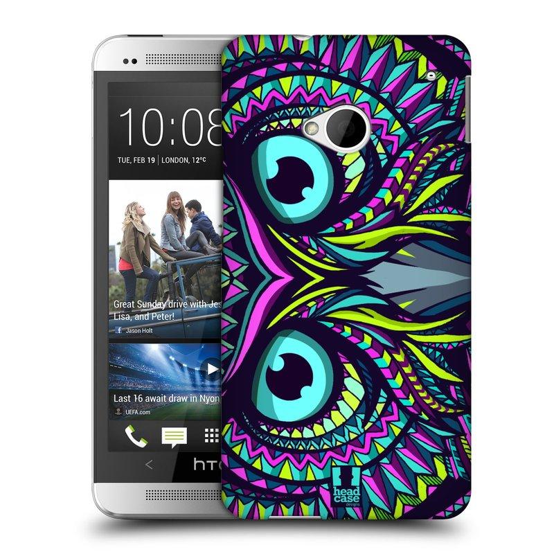 Plastové pouzdro na mobil HTC ONE M7 HEAD CASE AZTEC SOVA (Kryt či obal na mobilní telefon HTC ONE M7)