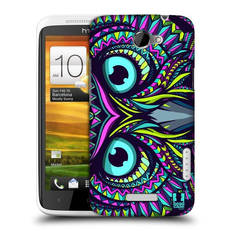 Plastové pouzdro na mobil HTC ONE X HEAD CASE AZTEC SOVA (Kryt či obal na mobilní telefon HTC ONE X)