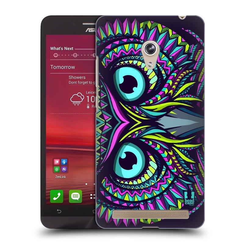 Plastové pouzdro na mobil Asus Zenfone 6 HEAD CASE AZTEC SOVA (Kryt či obal na mobilní telefon Asus Zenfone 6 A600CG / A601CG)
