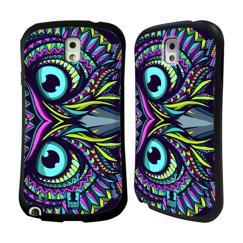 Nárazuvzdorné pouzdro na mobil Samsung Galaxy Note 3 HEAD CASE AZTEC SOVA (Odolný nárazuvzdorný silikonový kryt či obal na mobilní telefon Samsung Galaxy Note 3 SM-N9005)
