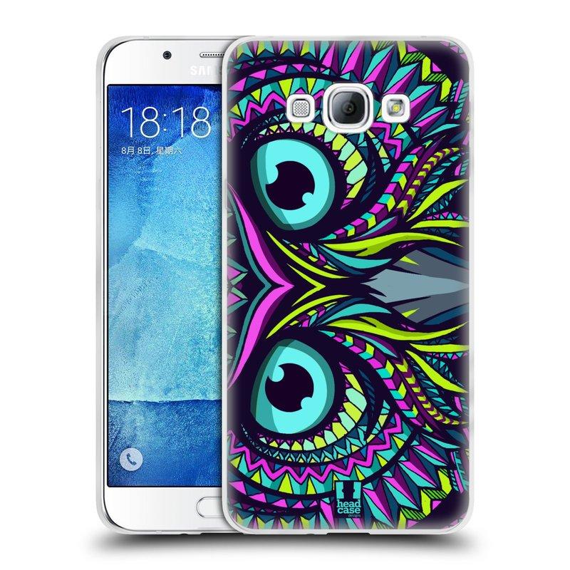 Silikonové pouzdro na mobil Samsung Galaxy A8 HEAD CASE AZTEC SOVA (Silikonový kryt či obal na mobilní telefon Samsung Galaxy A8 SM-A800)