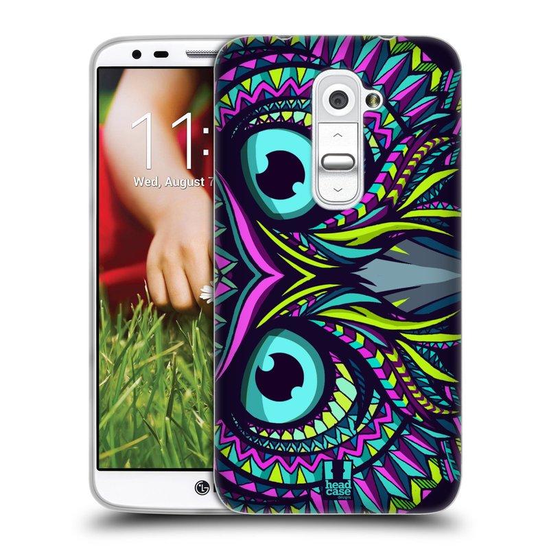 Silikonové pouzdro na mobil LG G2 HEAD CASE AZTEC SOVA (Silikonový kryt či obal na mobilní telefon LG G2 D802)