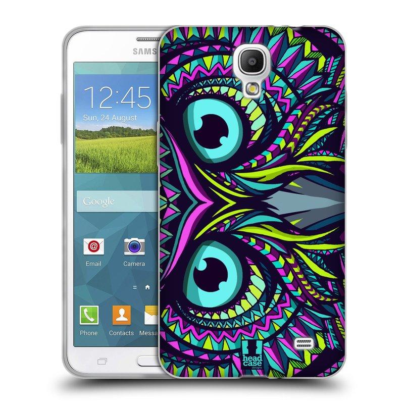Silikonové pouzdro na mobil Samsung Galaxy Grand Mega 2 HEAD CASE AZTEC SOVA (Silikonový kryt či obal na mobilní telefon Samsung Galaxy Grand Mega 2 SM-G750)
