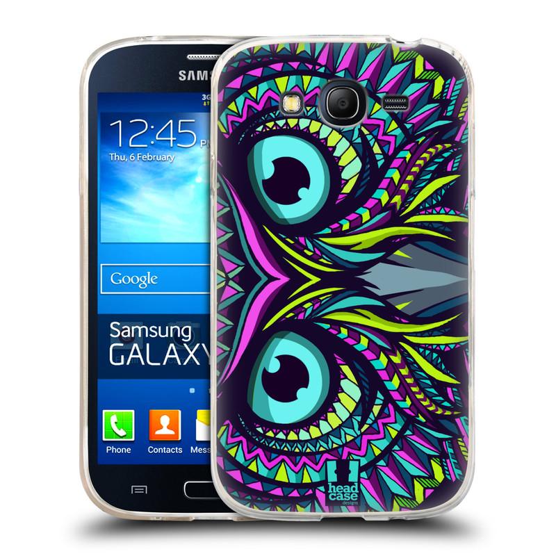 Silikonové pouzdro na mobil Samsung Galaxy Grand Neo HEAD CASE AZTEC SOVA (Silikonový kryt či obal na mobilní telefon Samsung Galaxy Grand Neo GT-I9060)