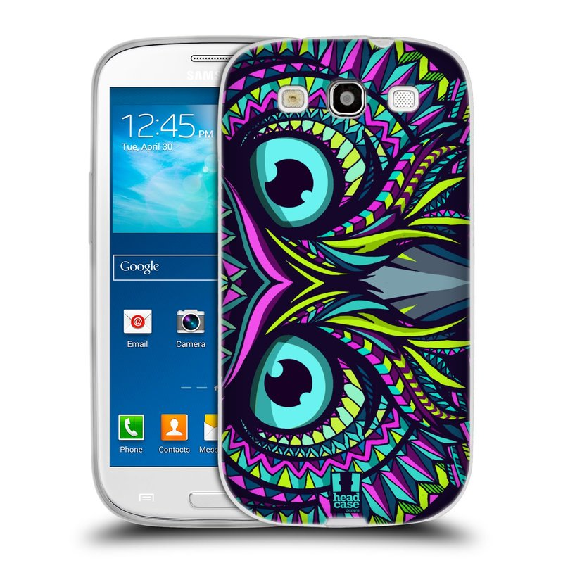 Silikonové pouzdro na mobil Samsung Galaxy S3 Neo HEAD CASE AZTEC SOVA (Silikonový kryt či obal na mobilní telefon Samsung Galaxy S3 Neo GT-i9301i)
