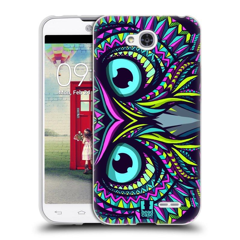 Silikonové pouzdro na mobil LG L90 HEAD CASE AZTEC SOVA (Silikonový kryt či obal na mobilní telefon LG L90 D405n)