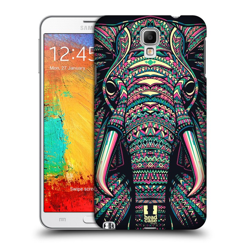 Plastové pouzdro na mobil Samsung Galaxy Note 3 Neo HEAD CASE AZTEC SLON (Kryt či obal na mobilní telefon Samsung Galaxy Note 3 Neo SM-N7505)