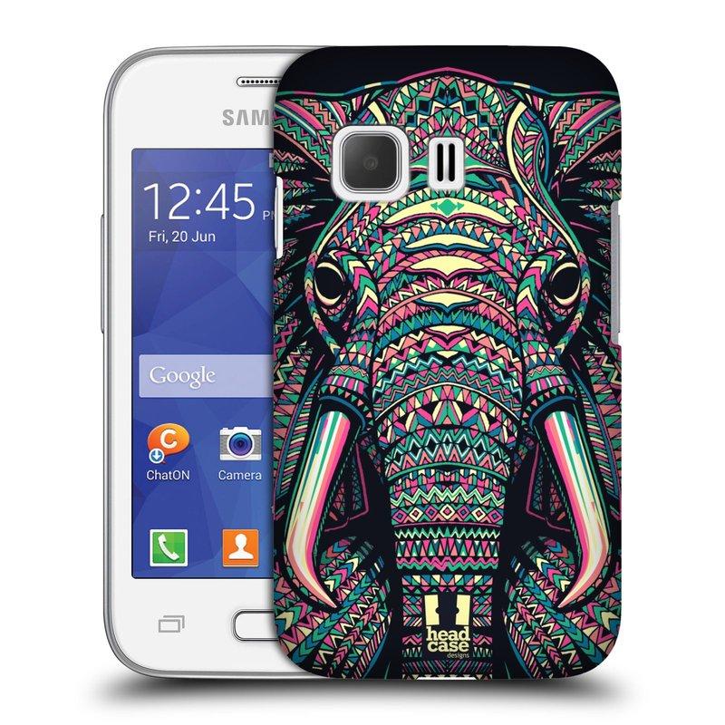 Plastové pouzdro na mobil Samsung Galaxy Young 2 HEAD CASE AZTEC SLON (Kryt či obal na mobilní telefon Samsung Galaxy Young 2 SM-G130)