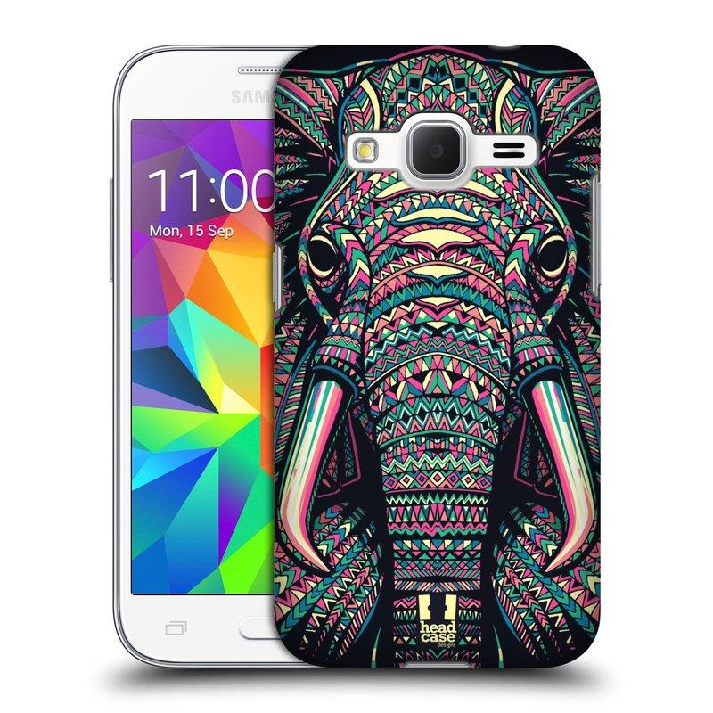 Plastové pouzdro na mobil Samsung Galaxy Core Prime LTE HEAD CASE AZTEC SLON (Kryt či obal na mobilní telefon Samsung Galaxy Core Prime LTE SM-G360)