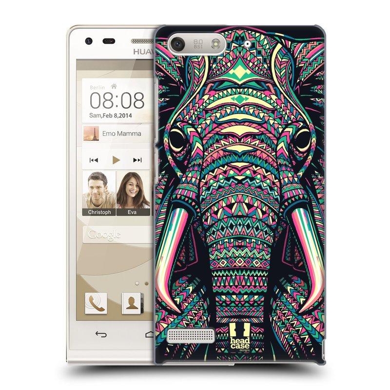 Plastové pouzdro na mobil Huawei Ascend G6 HEAD CASE AZTEC SLON (Kryt či obal na mobilní telefon Huawei Ascend G6 bez LTE)