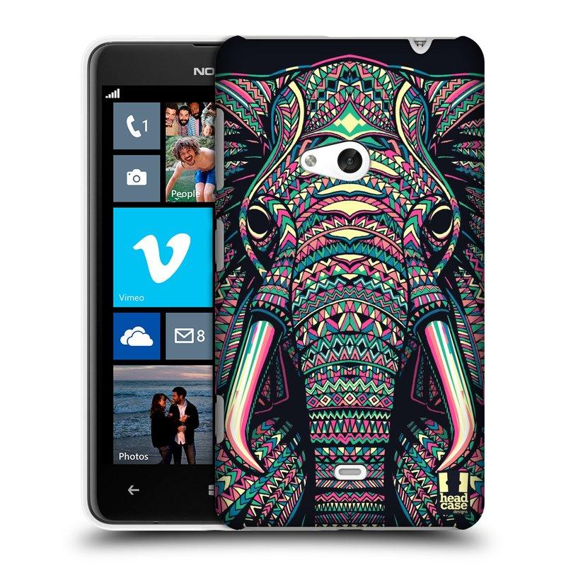 Plastové pouzdro na mobil Nokia Lumia 625 HEAD CASE AZTEC SLON (Kryt či obal na mobilní telefon Nokia Lumia 625)