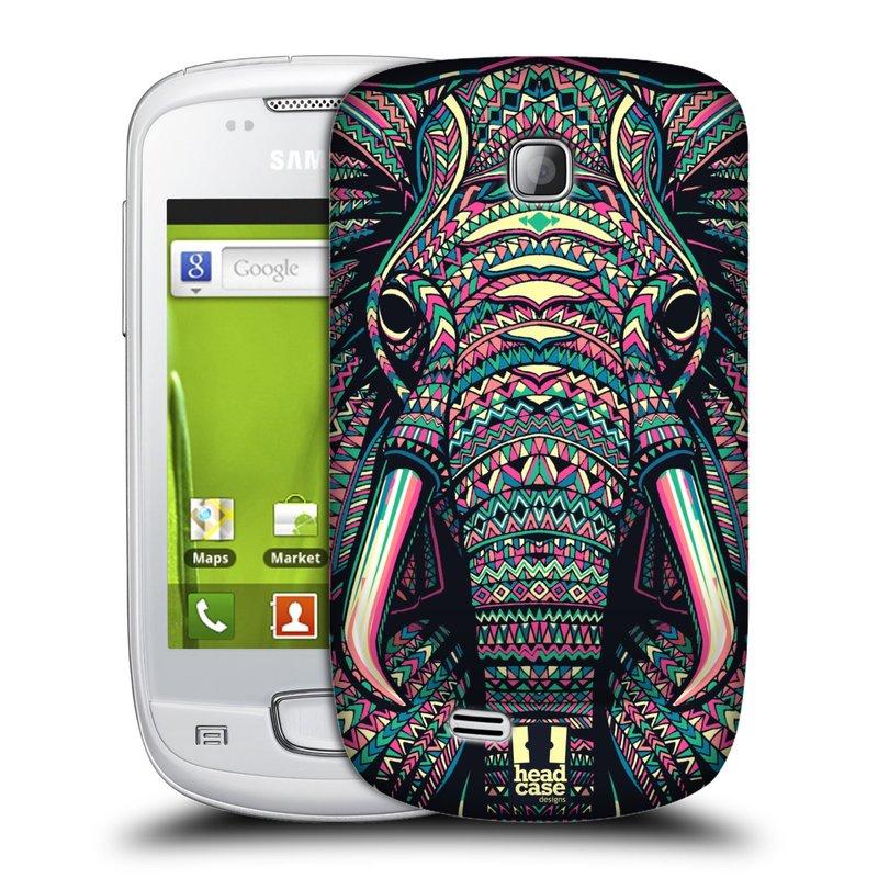 Plastové pouzdro na mobil Samsung Galaxy Mini HEAD CASE AZTEC SLON (Kryt či obal na mobilní telefon Samsung Galaxy Mini GT-S5570 / GT-S5570i)