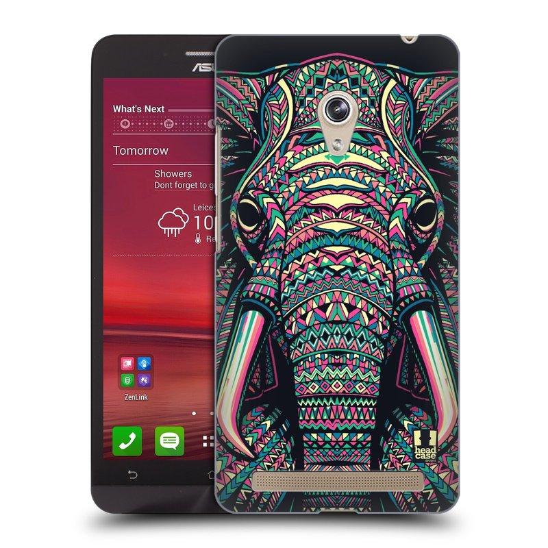 Plastové pouzdro na mobil Asus Zenfone 6 HEAD CASE AZTEC SLON (Kryt či obal na mobilní telefon Asus Zenfone 6 A600CG / A601CG)