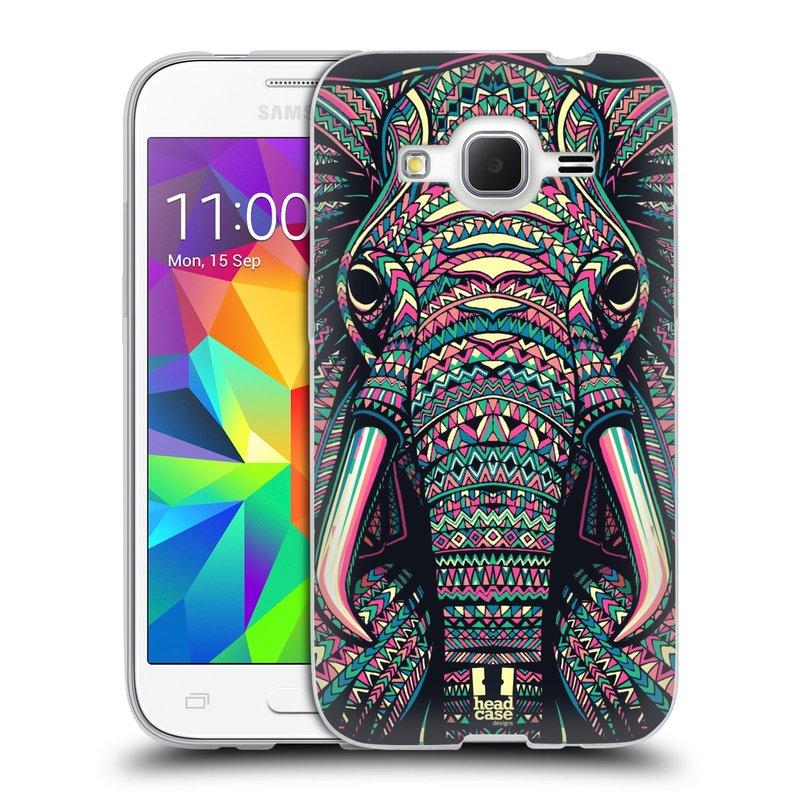 Silikonové pouzdro na mobil Samsung Galaxy Core Prime LTE HEAD CASE AZTEC SLON (Silikonový kryt či obal na mobilní telefon Samsung Galaxy Core Prime LTE SM-G360)