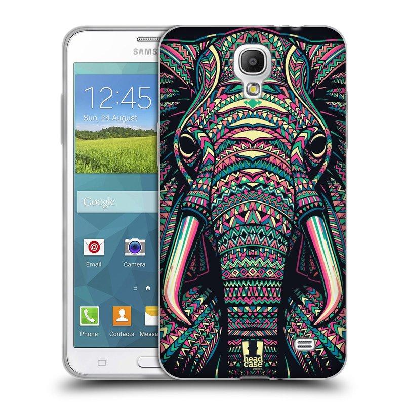 Silikonové pouzdro na mobil Samsung Galaxy Grand Mega 2 HEAD CASE AZTEC SLON (Silikonový kryt či obal na mobilní telefon Samsung Galaxy Grand Mega 2 SM-G750)