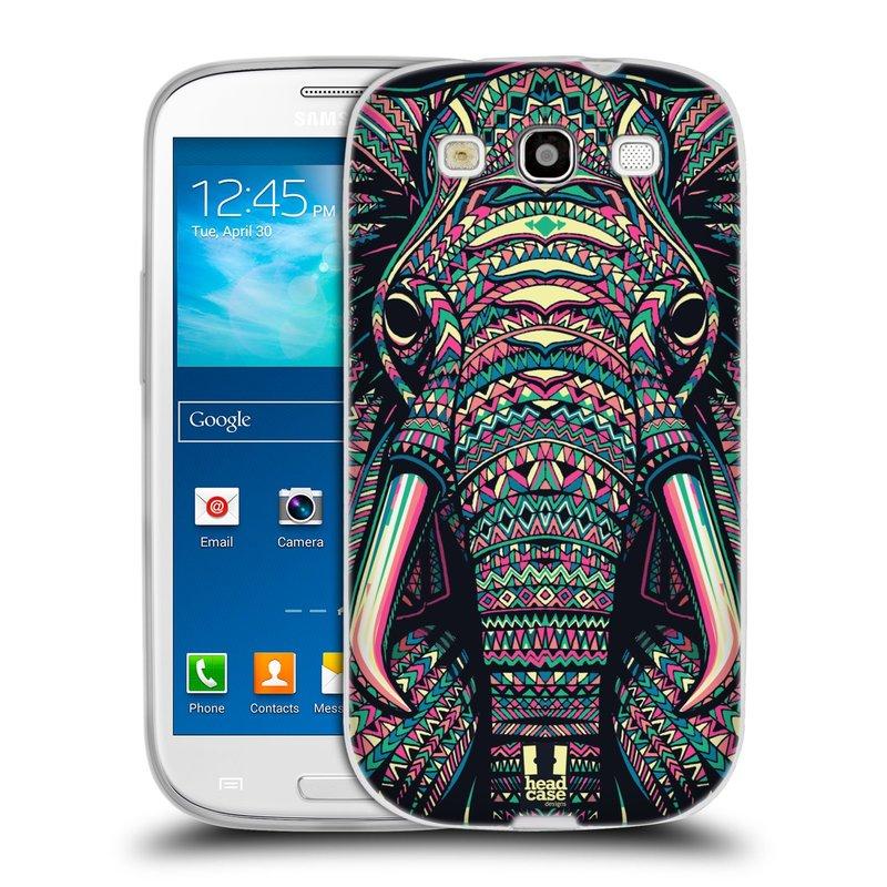 Silikonové pouzdro na mobil Samsung Galaxy S3 Neo HEAD CASE AZTEC SLON (Silikonový kryt či obal na mobilní telefon Samsung Galaxy S3 Neo GT-i9301i)