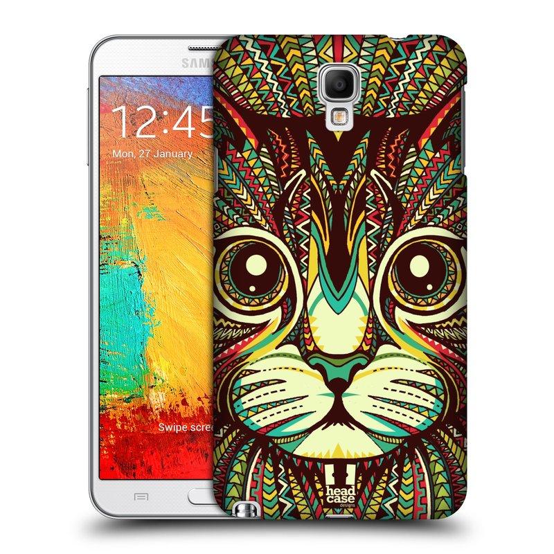 Plastové pouzdro na mobil Samsung Galaxy Note 3 Neo HEAD CASE AZTEC KOČKA (Kryt či obal na mobilní telefon Samsung Galaxy Note 3 Neo SM-N7505)