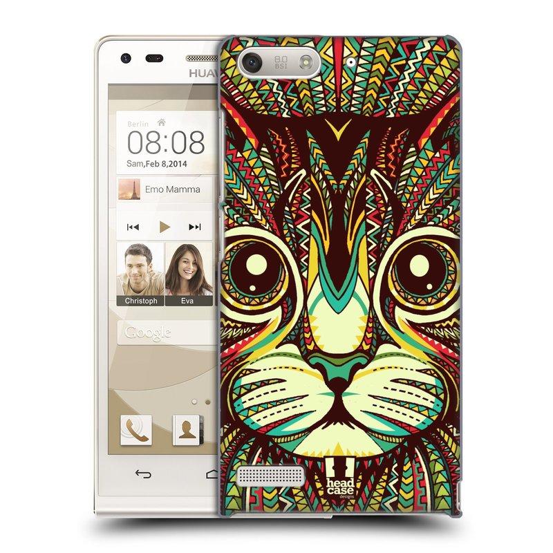 Plastové pouzdro na mobil Huawei Ascend G6 HEAD CASE AZTEC KOČKA (Kryt či obal na mobilní telefon Huawei Ascend G6 bez LTE)