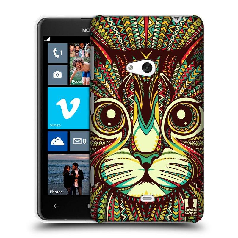 Plastové pouzdro na mobil Nokia Lumia 625 HEAD CASE AZTEC KOČKA (Kryt či obal na mobilní telefon Nokia Lumia 625)