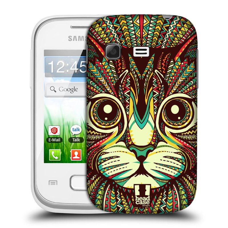 Plastové pouzdro na mobil Samsung Galaxy Pocket HEAD CASE AZTEC KOČKA (Kryt či obal na mobilní telefon Samsung Galaxy Pocket GT-S5300)
