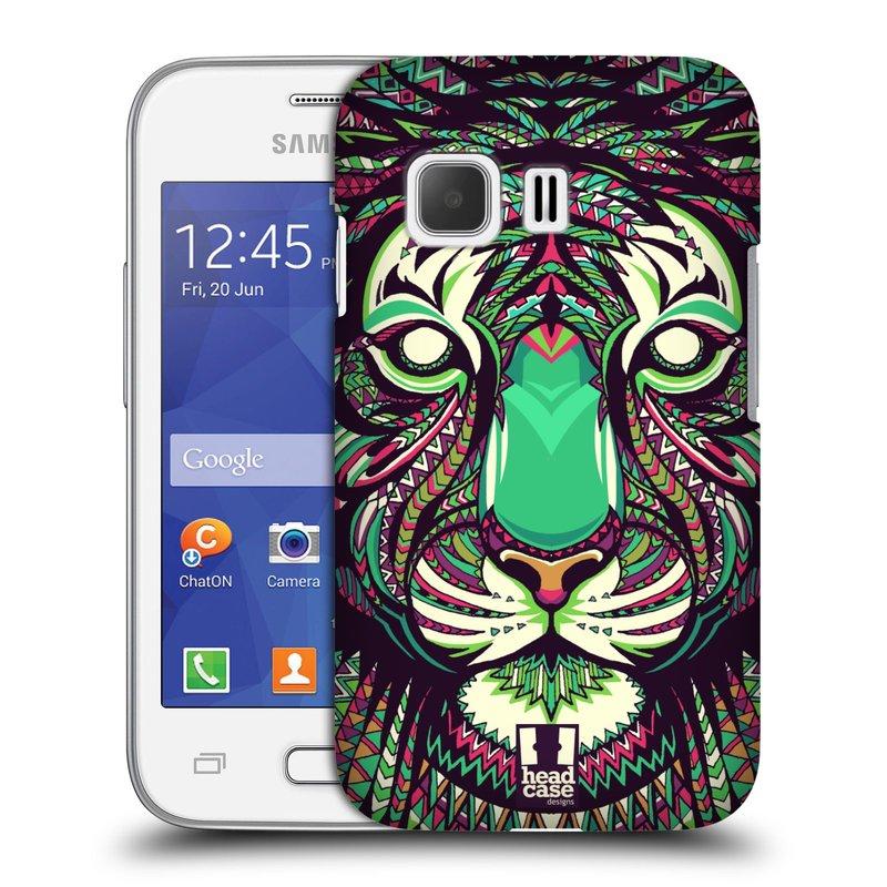 Plastové pouzdro na mobil Samsung Galaxy Young 2 HEAD CASE AZTEC TYGR (Kryt či obal na mobilní telefon Samsung Galaxy Young 2 SM-G130)
