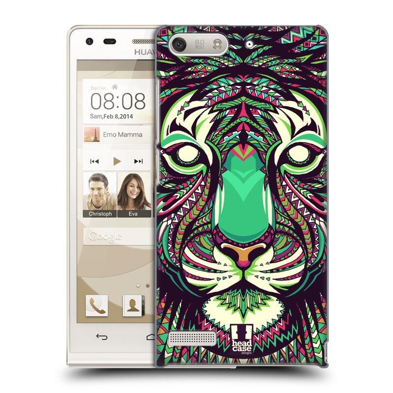 Plastové pouzdro na mobil Huawei Ascend G6 HEAD CASE AZTEC TYGR (Kryt či obal na mobilní telefon Huawei Ascend G6 bez LTE)