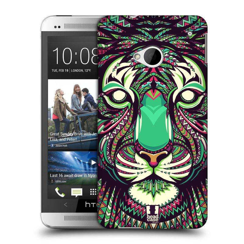 Plastové pouzdro na mobil HTC ONE M7 HEAD CASE AZTEC TYGR (Kryt či obal na mobilní telefon HTC ONE M7)