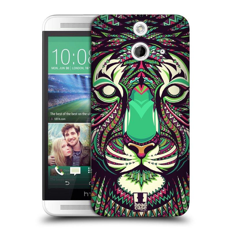 Plastové pouzdro na mobil HTC ONE E8 HEAD CASE AZTEC TYGR (Kryt či obal na mobilní telefon HTC ONE E8)
